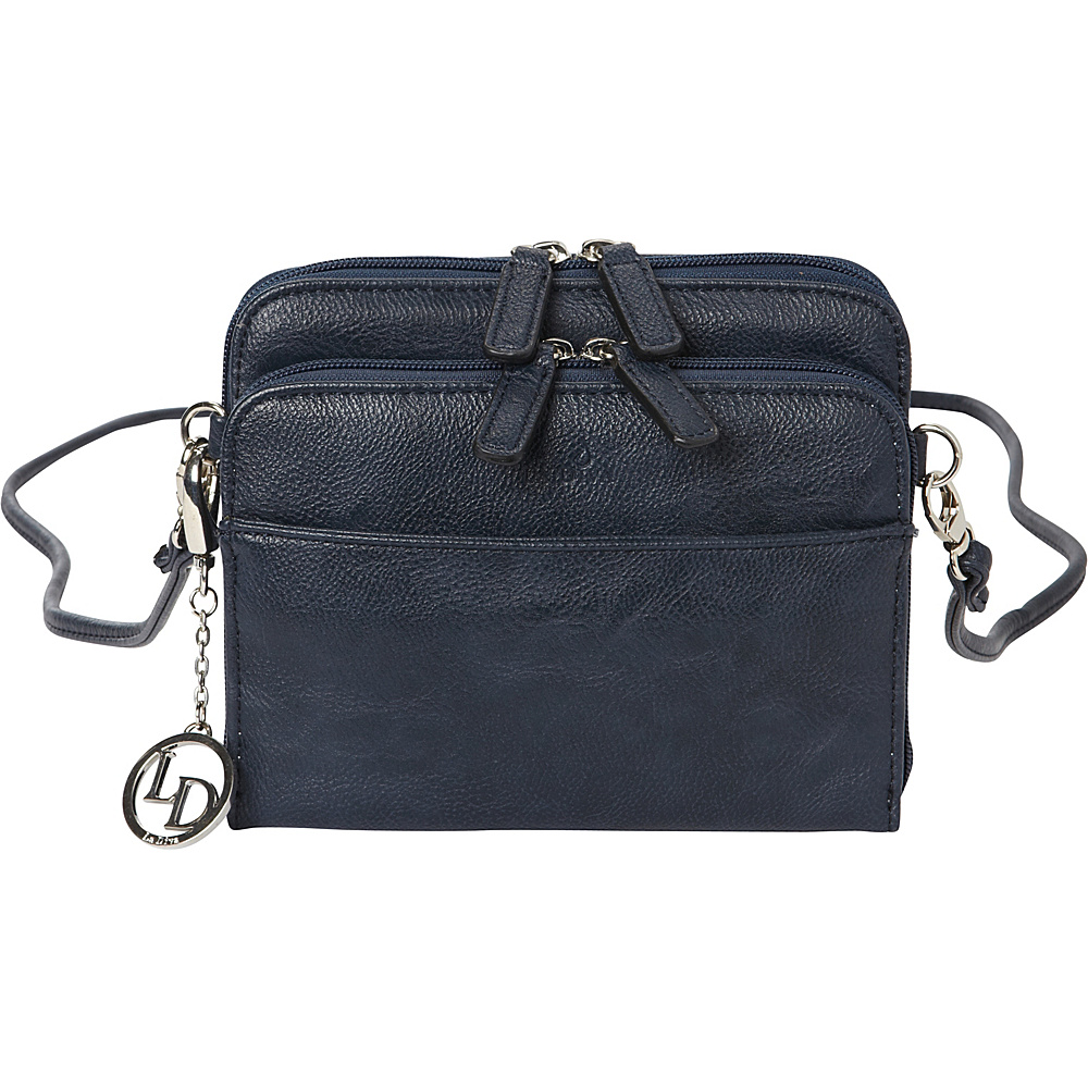 La Diva Small Crossbody with Organizer Navy La Diva Manmade Handbags