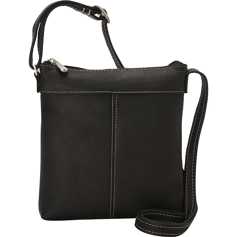 Le Donne Leather Back To Basics Crossbody Black - Le Donne Leather Leather Handbags - Handbags, Leather Handbags