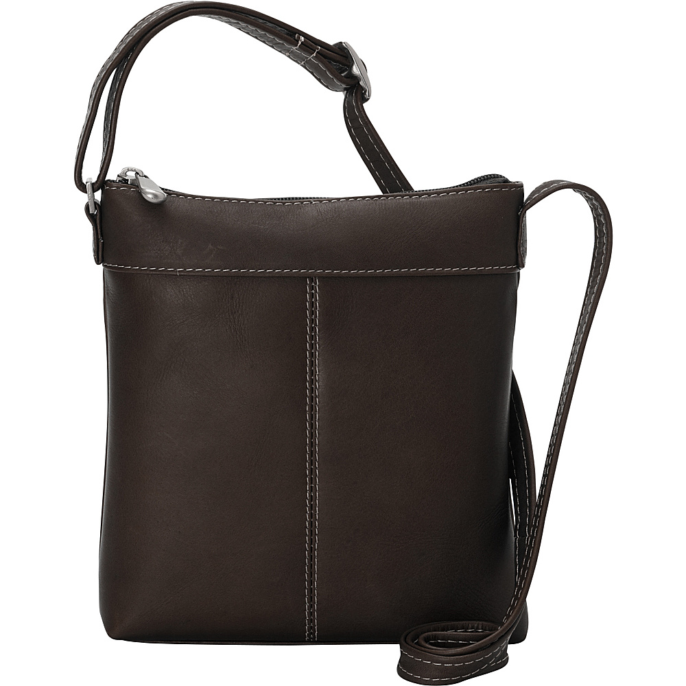 Le Donne Leather Back To Basics Crossbody Cafe - Le Donne Leather Leather Handbags - Handbags, Leather Handbags