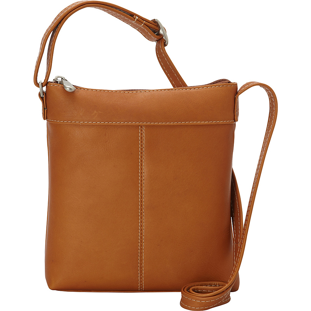 Le Donne Leather Back To Basics Crossbody Tan - Le Donne Leather Leather Handbags - Handbags, Leather Handbags