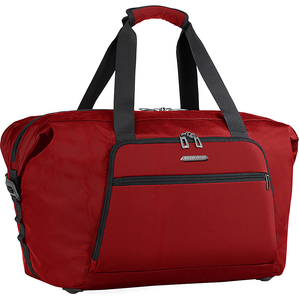 Briggs & Riley Transcend 300 Weekender Shoulder Bag Crimson - Briggs & Riley Luggage Totes and Satchels