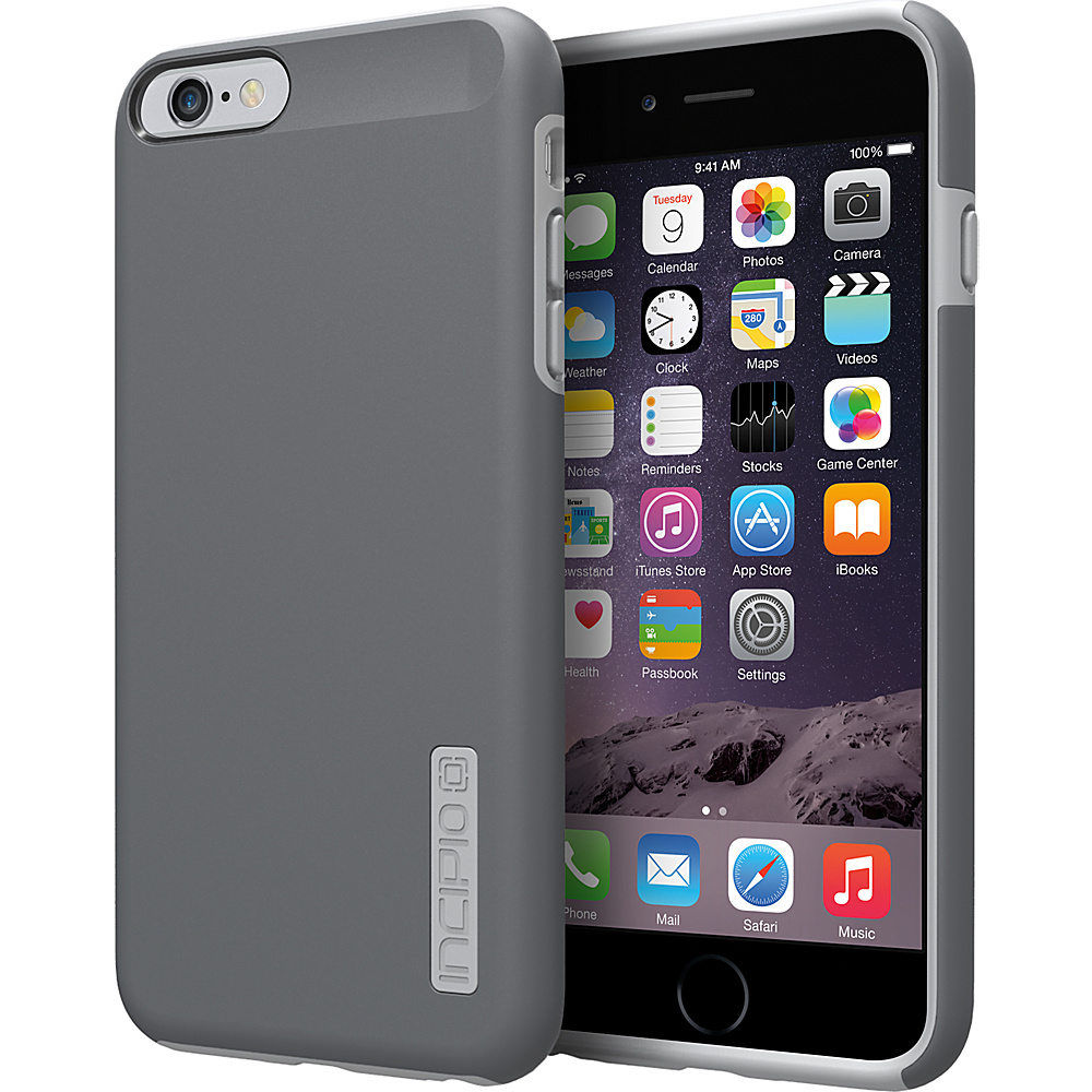 Incipio DualPro iPhone 6 6s Plus Case Dark Gray Light Gray Incipio Electronic Cases