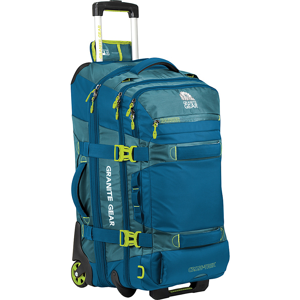 Granite Gear Cross Trek 26 Wheeled Duffel Bleumine Blue Frost Neolime Granite Gear Softside Checked