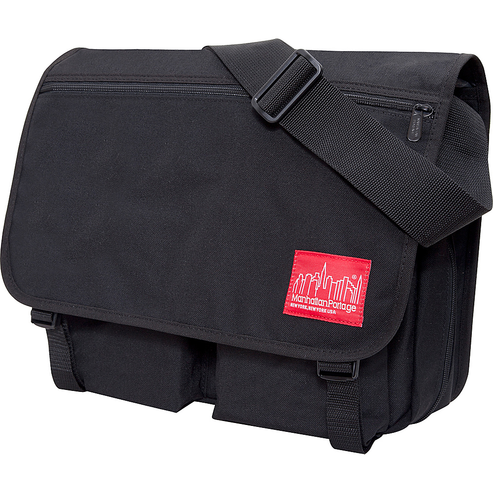 Manhattan Portage Europa With Back Zipper Large Shoulder Bag Black - Manhattan Portage Other Mens Bags - Work Bags & Briefcases, Other Men's Bags