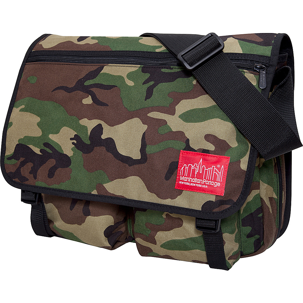 Manhattan Portage Europa With Back Zipper Large Shoulder Bag Camouflage - Manhattan Portage Other Mens Bags - Work Bags & Briefcases, Other Men's Bags