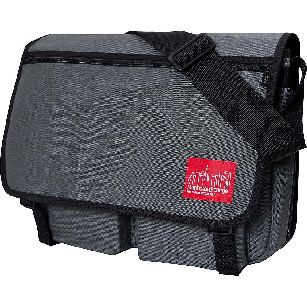 Manhattan Portage Europa With Back Zipper Large Shoulder Bag Gray - Manhattan Portage Other Mens Bags - Work Bags & Briefcases, Other Men's Bags
