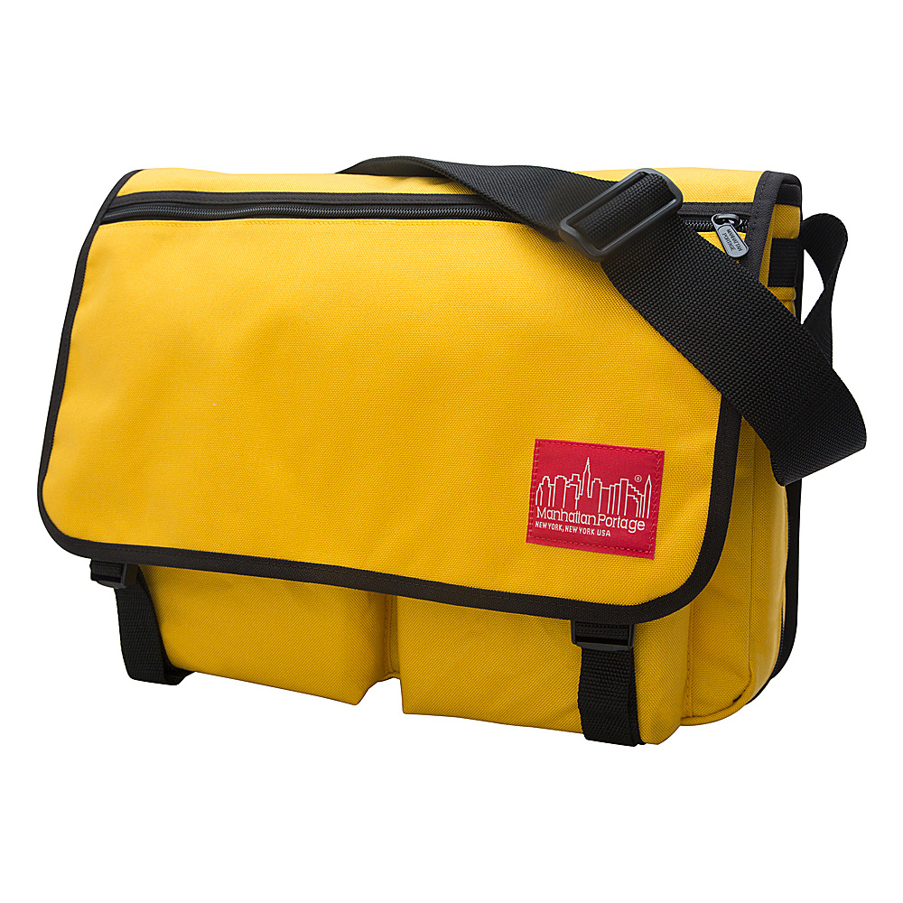 Manhattan Portage Europa With Back Zipper Large Shoulder Bag Mustard - Manhattan Portage Other Mens Bags - Work Bags & Briefcases, Other Men's Bags