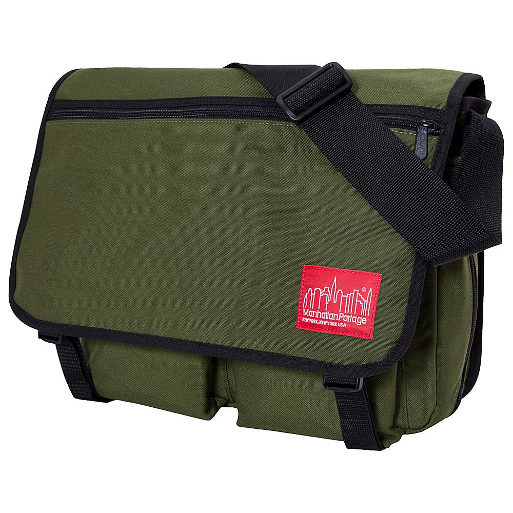 Manhattan Portage Europa With Back Zipper Large Shoulder Bag Olive - Manhattan Portage Other Mens Bags - Work Bags & Briefcases, Other Men's Bags