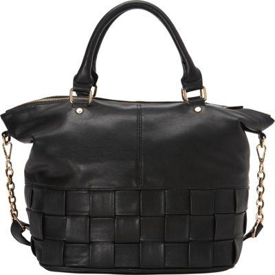 deux lux Le Cirque Large Satchel Black - deux lux Manmade Handbags