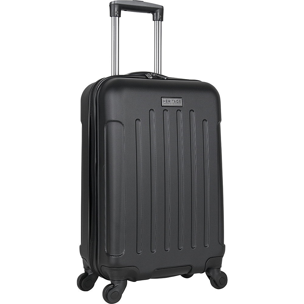 Heritage Lincoln Park 20 Carry On Spinner Black Heritage Hardside Carry On