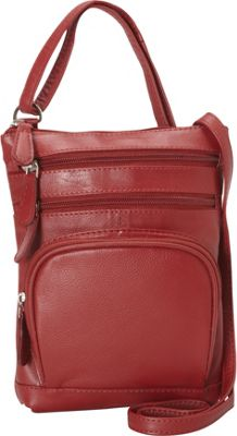 R & R Collections Leather Crossbody Red - R & R Collections Leather Handbags
