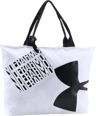 Under Armour Big Logo Tote White/Black/Black - Under Armour Gym Duffels