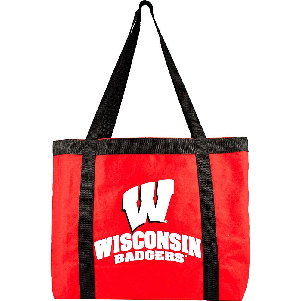 Littlearth Team Tailgate Tote - Big Ten Teams Wisconsin, U of - Littlearth Fabric Handbags - Handbags, Fabric Handbags