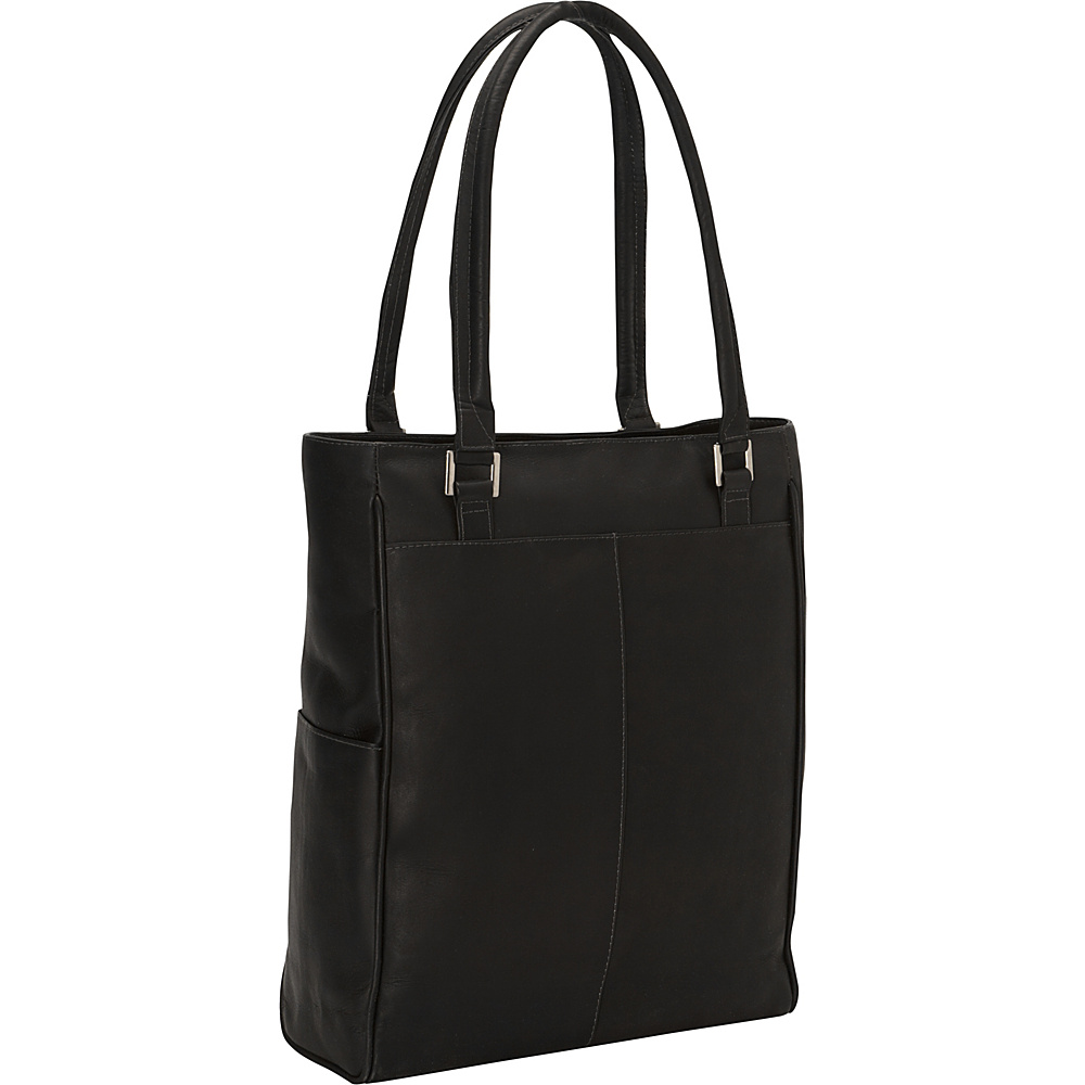 Piel Vertical Laptop Tote Black - Piel Non-Wheeled Business Cases - Work Bags & Briefcases, Non-Wheeled Business Cases