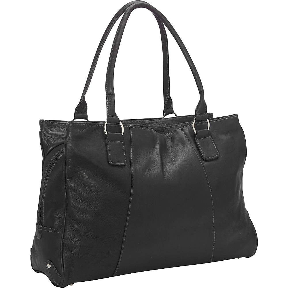 Piel Laptop Travel Tote Black - Piel Womens Business Bags - Work Bags & Briefcases, Women's Business Bags