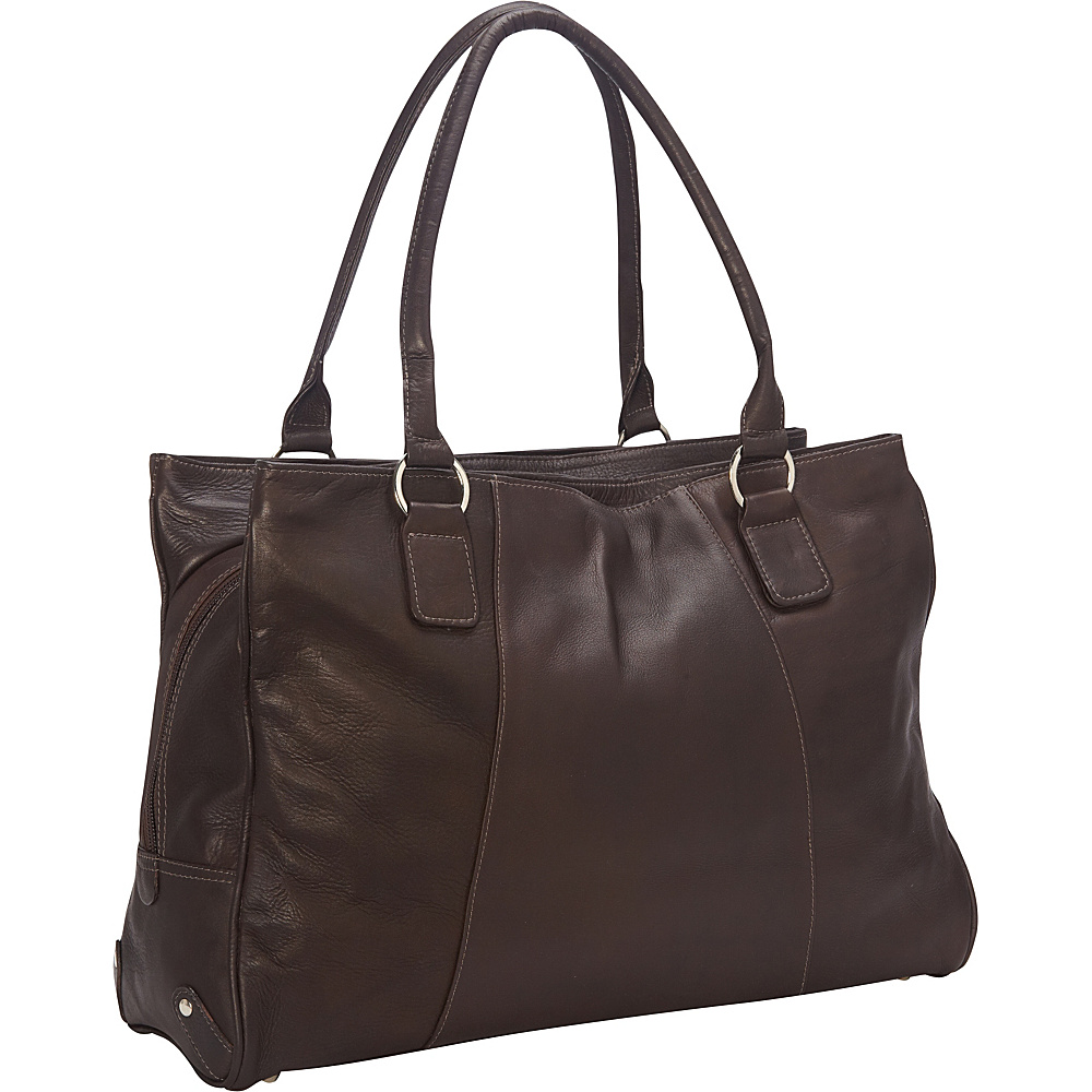 Piel Laptop Travel Tote Chocolate - Piel Womens Business Bags - Work Bags & Briefcases, Women's Business Bags