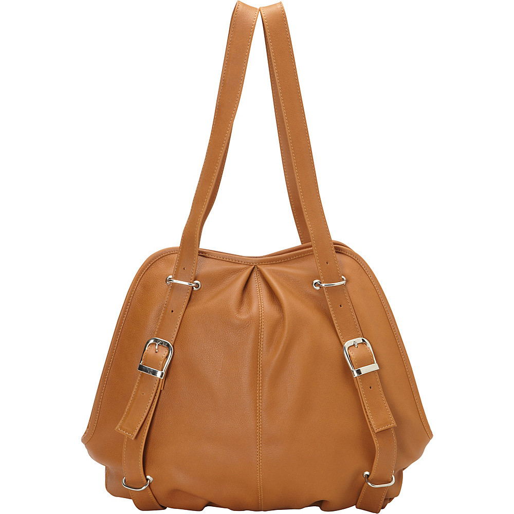 Piel Convertible Buckle Backpack Shoulder Bag Honey - Piel Leather Handbags - Handbags, Leather Handbags