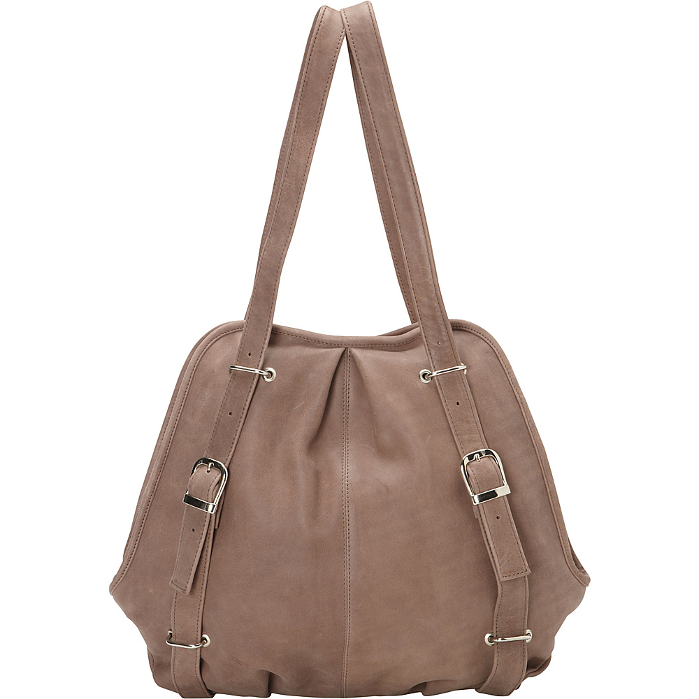 Piel Convertible Buckle Backpack Shoulder Bag Toffee- eBags Exclusive - Piel Leather Handbags - Handbags, Leather Handbags