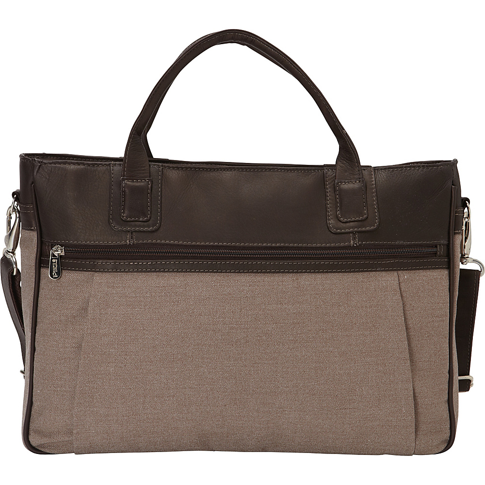 Piel Slim Laptop Briefcase Chocolate - Piel Non-Wheeled Business Cases - Work Bags & Briefcases, Non-Wheeled Business Cases