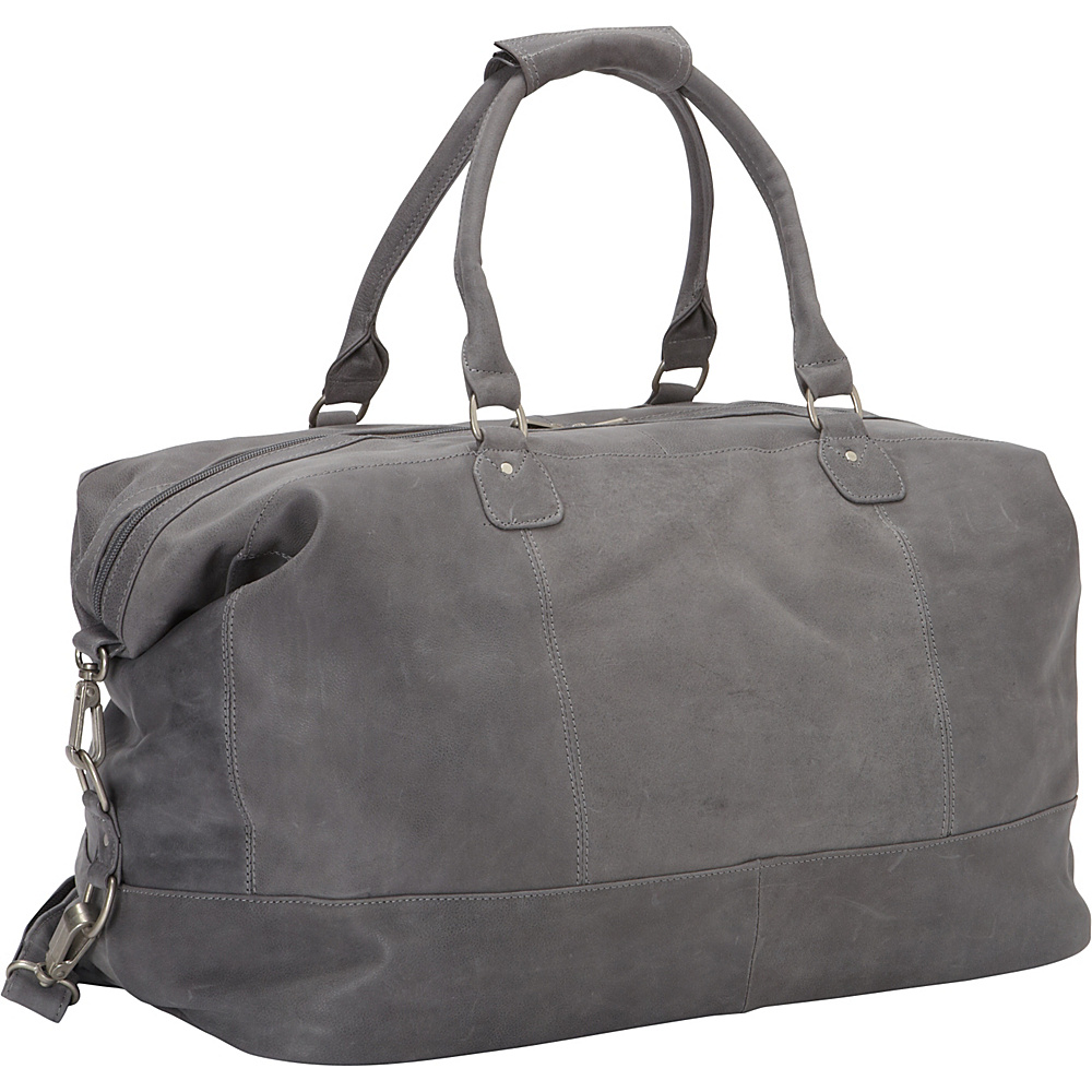 Piel Large Classic Carry On Satchel Charcoal - Piel Travel Duffels - Duffels, Travel Duffels