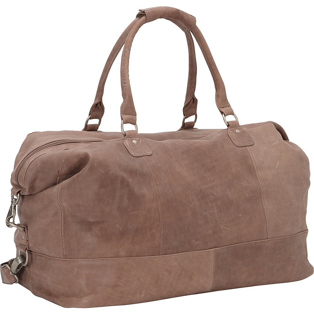 Piel Large Classic Carry On Satchel Toffee- eBags Exclusive - Piel Travel Duffels - Duffels, Travel Duffels