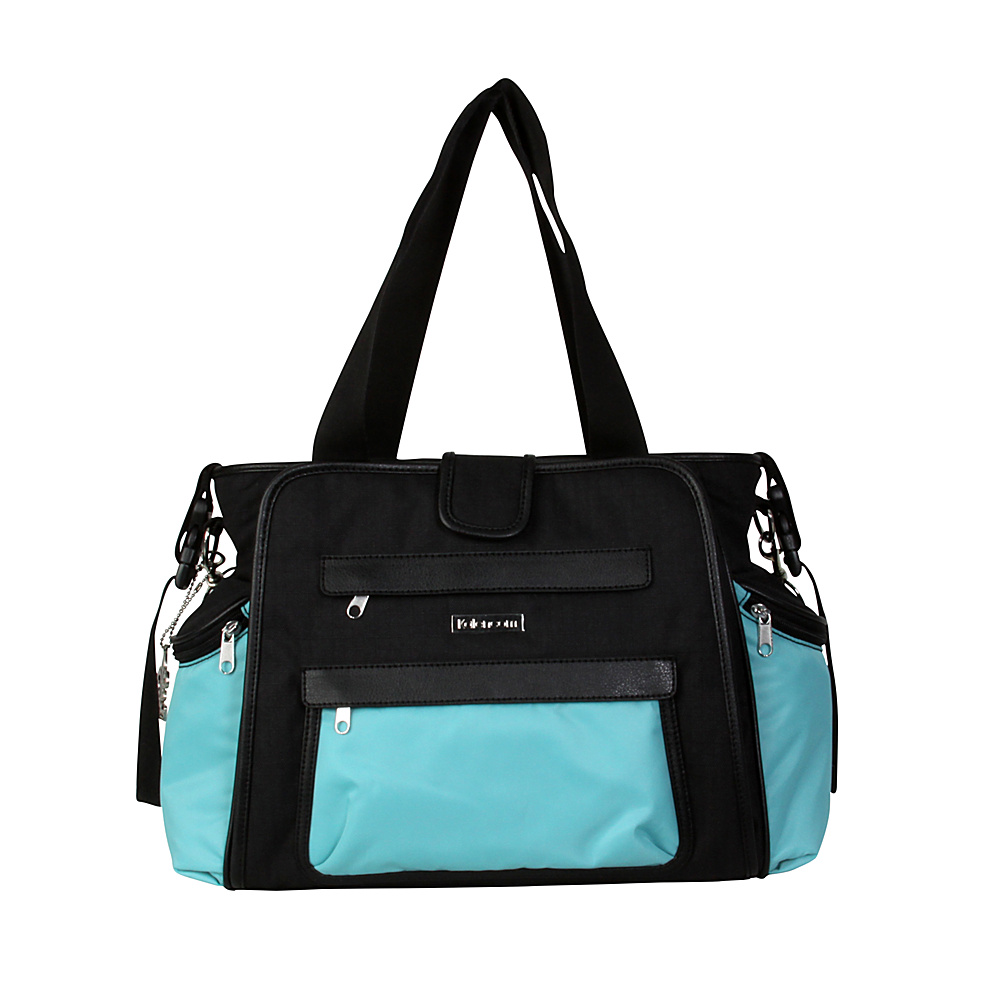 Kalencom Nola Tote Diaper Bag Black Aquarelle Kalencom Diaper Bags Accessories