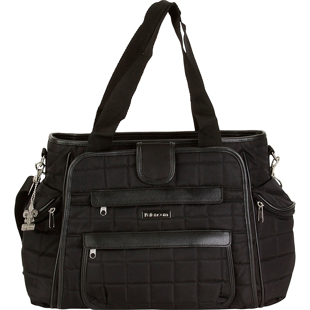 Kalencom Nola Tote Diaper Bag Black Black Kalencom Diaper Bags Accessories