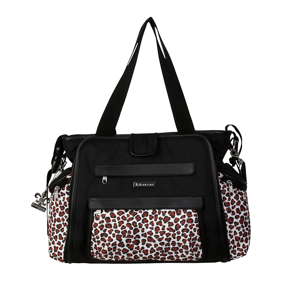 Kalencom Nola Tote Diaper Bag Black Safari Cheetah Kalencom Diaper Bags Accessories