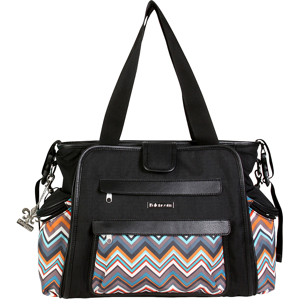 Kalencom Nola Tote Diaper Bag Black Safari Zig Zag Kalencom Diaper Bags Accessories