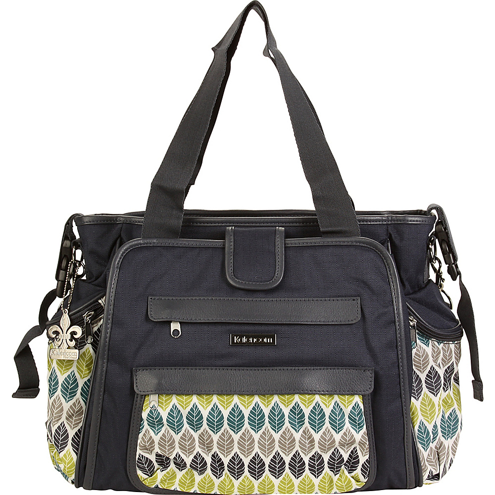 Kalencom Nola Tote Diaper Bag Navy Feathers - Kalencom Diaper Bags & Accessories