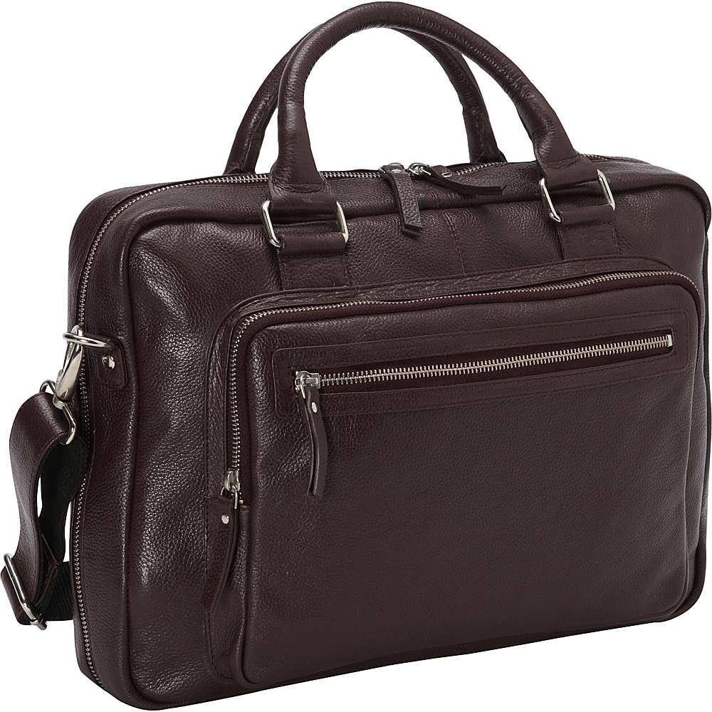 Latico Leathers Barcelona Brief Burgundy - Latico Leathers Non-Wheeled Business Cases - Work Bags & Briefcases, Non-Wheeled Business Cases