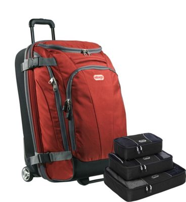 eBags Value Set:  TLS Junior 25 inch Wheeled Duffel + Packing Cube Sinful Red - eBags Rolling Duffels