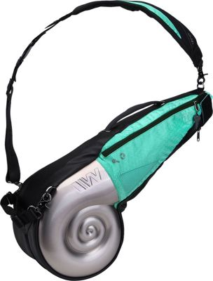 Wellzher Nautilus Driving Range Sunday Bag Silver/Turquoise - Wellzher Golf Bags
