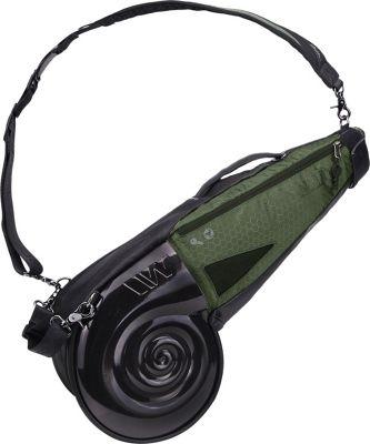 Wellzher Nautilus Driving Range Sunday Bag Black/Huntergreen - Wellzher Golf Bags