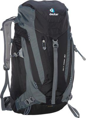 Deuter ACT Trail 30 Hiking Backpack Black/Granite - Deuter Day Hiking Backpacks