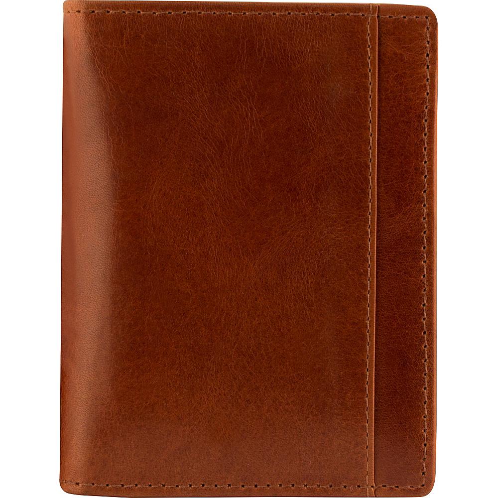 Mancini Leather Goods Mens RFID Unique Vertical Wing Wallet Cognac Mancini Leather Goods Men s Wallets