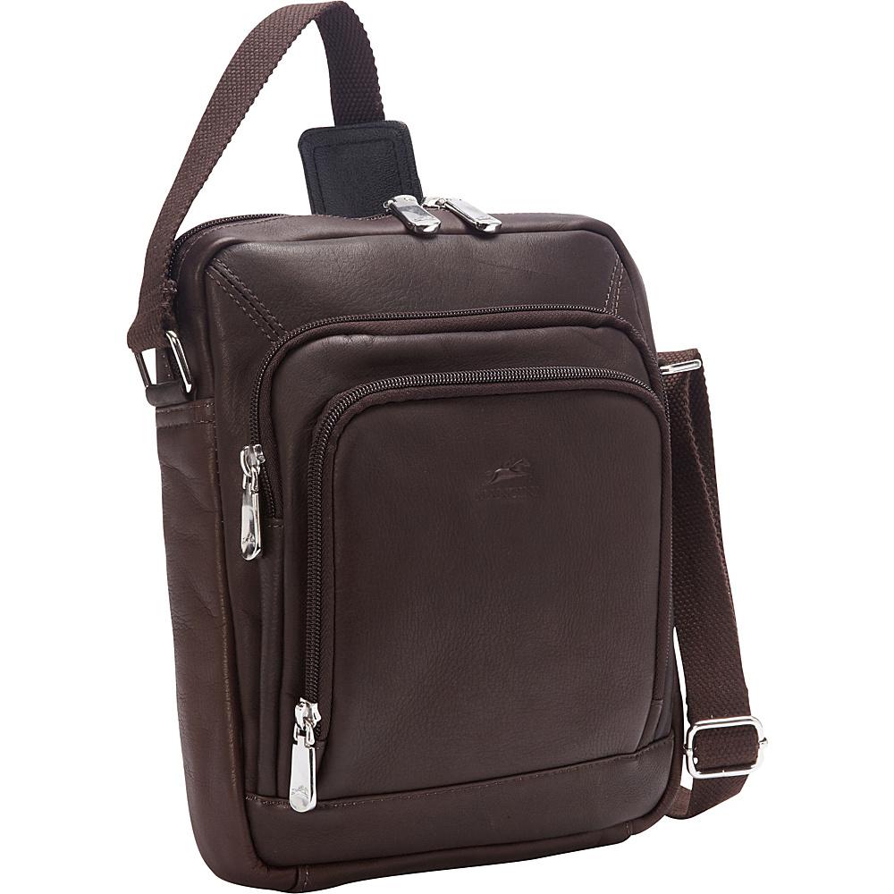 Mancini Leather Goods Unisex Shoulder Bag for Electronics Brown Mancini Leather Goods Other Men s Bags
