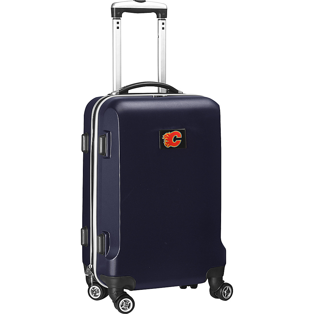 Denco Sports Luggage NHL 20 Domestic Carry-On Navy Calgary Flames - Denco Sports Luggage Hardside Carry-On - Luggage, Hardside Carry-On