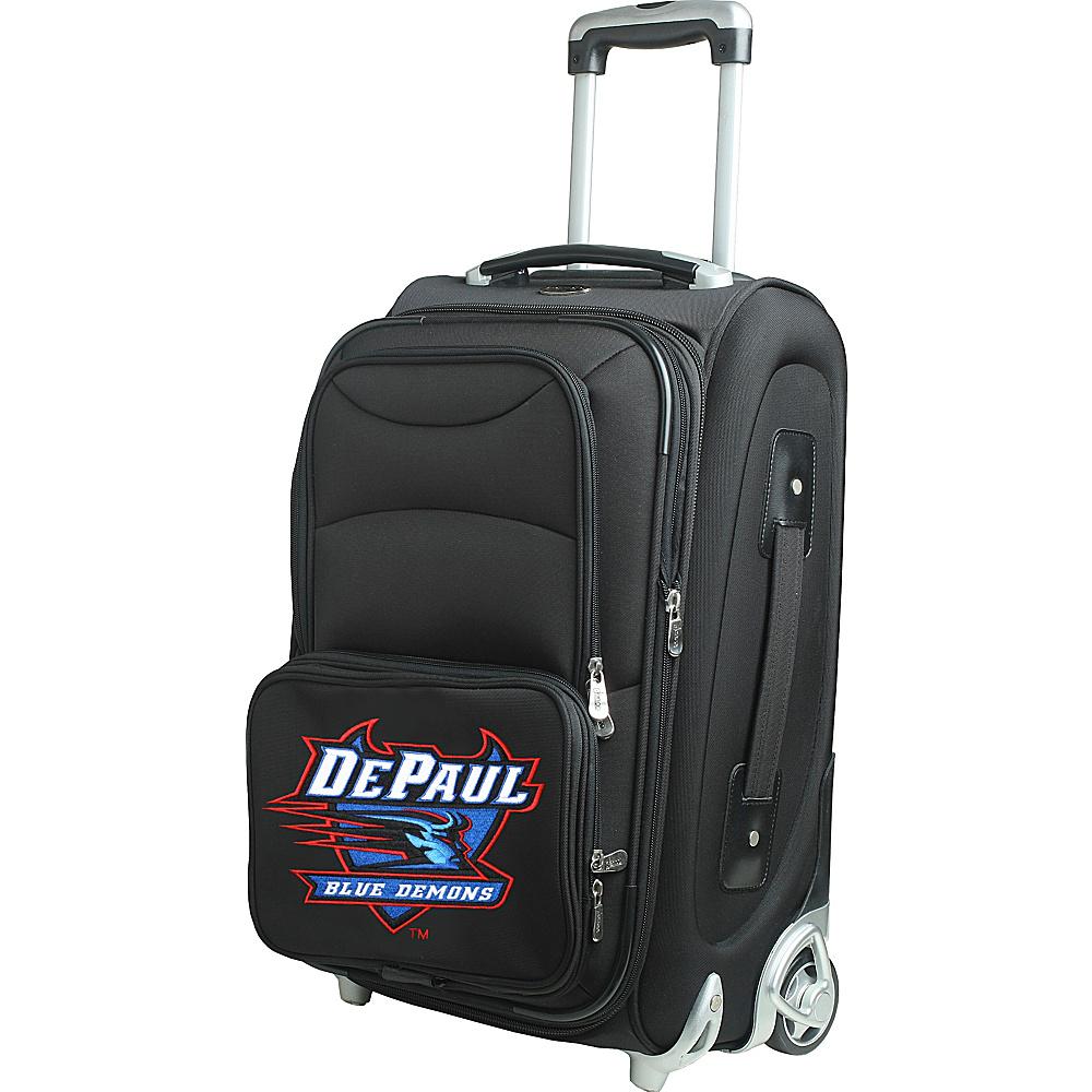 Denco Sports Luggage NCAA 21 Wheeled Upright DePaul University Blue Demons - Denco Sports Luggage Softside Carry-On - Luggage, Softside Carry-On