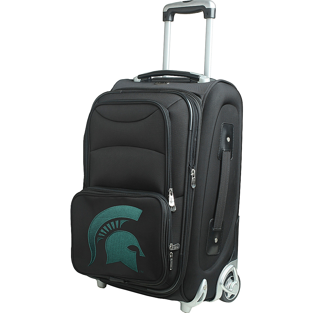 Denco Sports Luggage NCAA 21 Wheeled Upright Michigan State University Spartans - Denco Sports Luggage Softside Carry-On - Luggage, Softside Carry-On