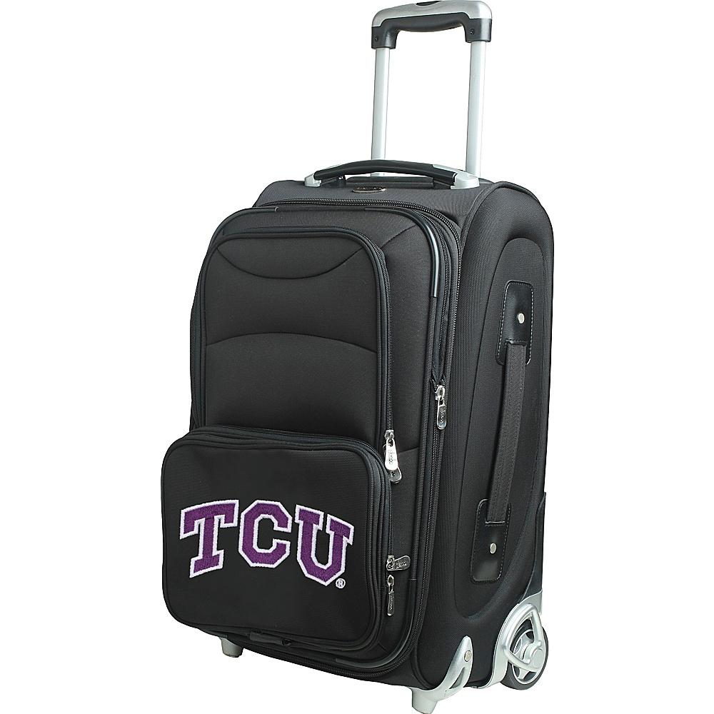 Denco Sports Luggage NCAA 21 Wheeled Upright Texas Christian University Horned Frogs - Denco Sports Luggage Softside Carry-On - Luggage, Softside Carry-On