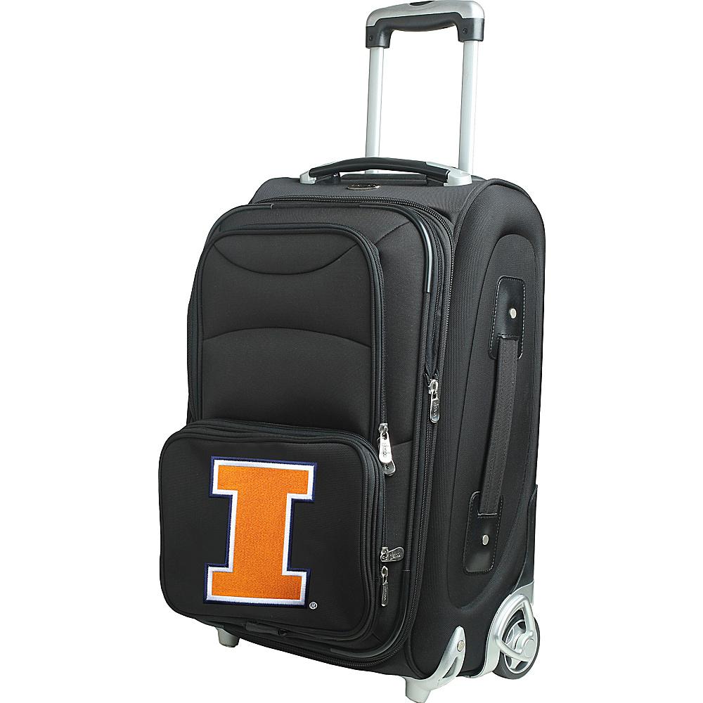 Denco Sports Luggage NCAA 21 Wheeled Upright University of Illinois Fighting Illini - Denco Sports Luggage Softside Carry-On - Luggage, Softside Carry-On