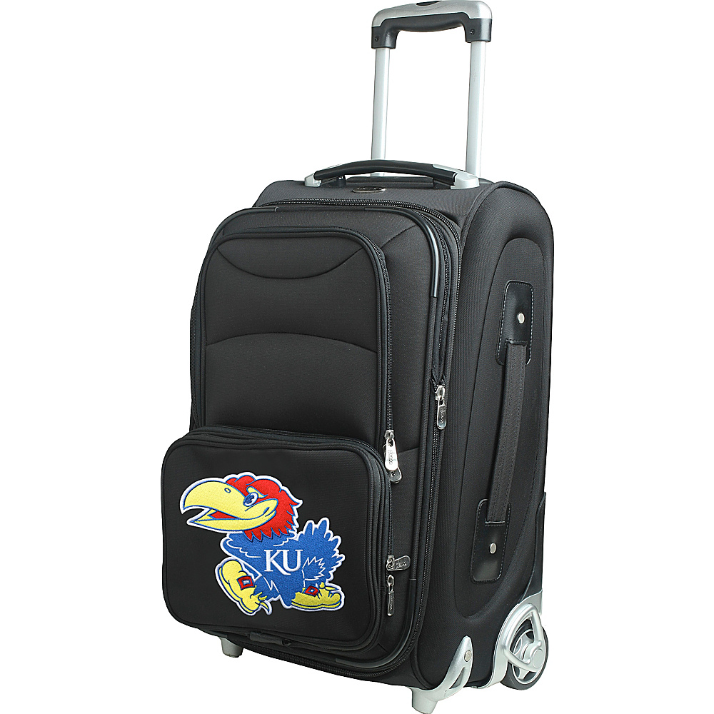 Denco Sports Luggage NCAA 21 Wheeled Upright University of Kansas Jayhawks - Denco Sports Luggage Softside Carry-On - Luggage, Softside Carry-On