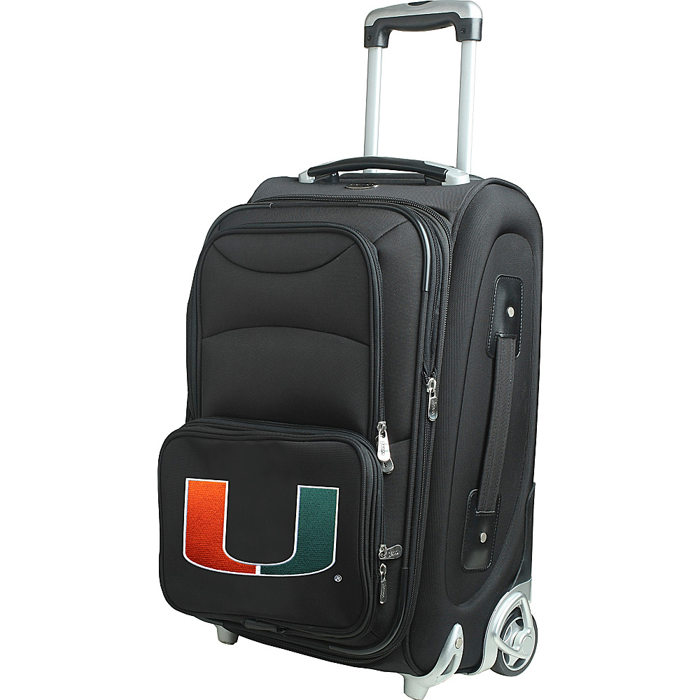 "Denco Sports Luggage NCAA 21"" Wheeled Upright University of Miami Hurricanes - Denco Sports Luggage Softside Carry-On"