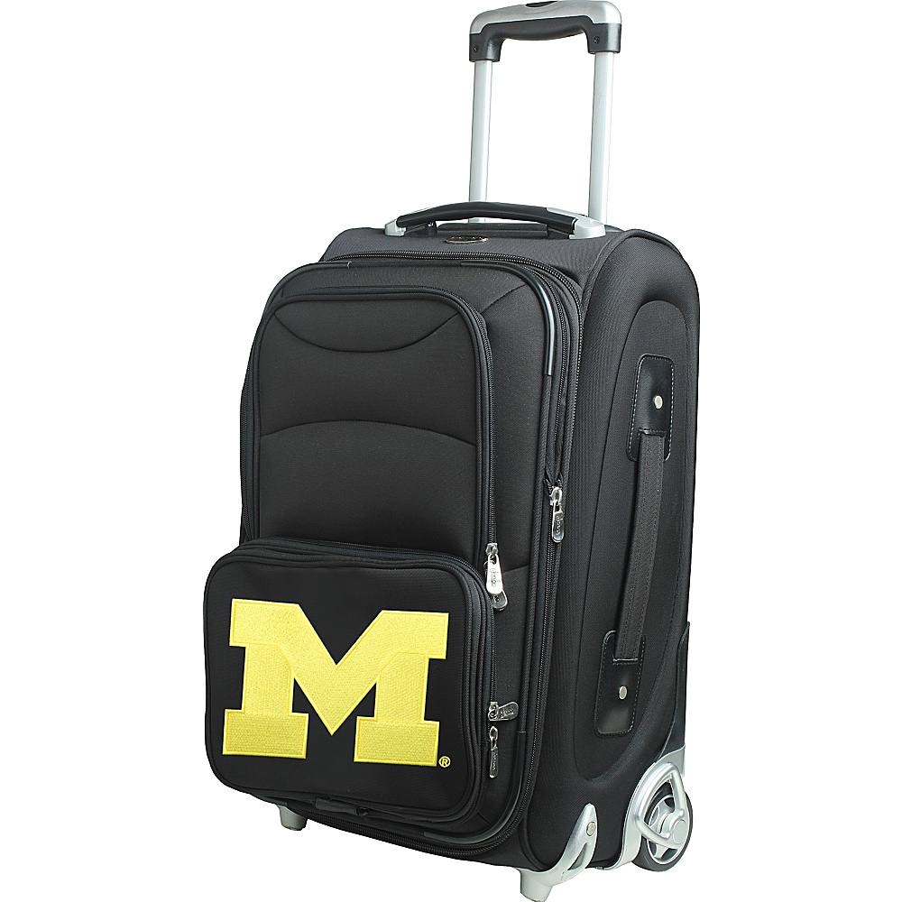 "Denco Sports Luggage NCAA 21"" Wheeled Upright University of Michigan Wolverines - Denco Sports Luggage Softside Carry-On"