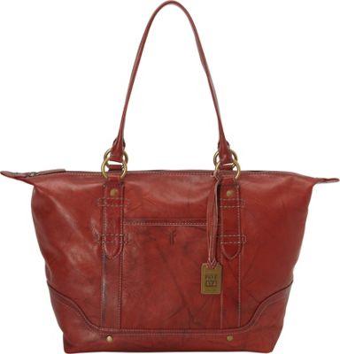 Frye Campus Zip Tote Burnt Red - Frye Designer Handbags