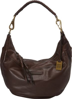 Frye Jenny Hobo Dark Brown - Frye Designer Handbags