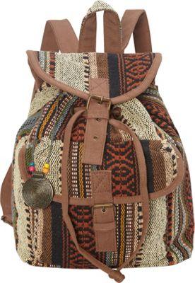 Sun 'N' Sand Sandsation Backpack Brown - Sun 'N' Sand Leather Handbags