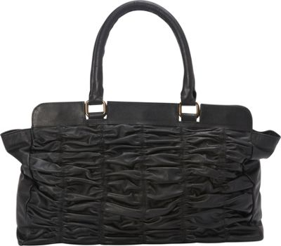 Sharo Leather Bags Black Leather Quilted Handbag Black - Sharo Leather Bags Leather Handbags