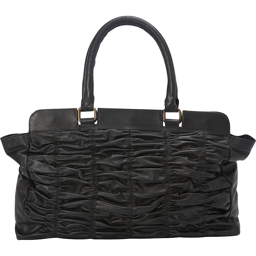 Sharo Leather Bags Black Leather Quilted Handbag Black Sharo Leather Bags Leather Handbags
